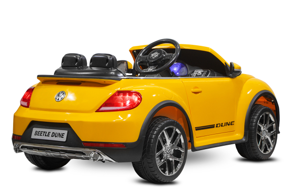 Masinuta electrica VW Beetle Dune Cabrio STANDARD #Galben 4