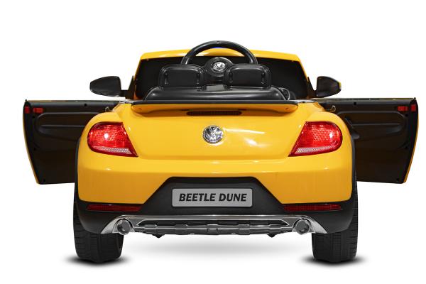 Masinuta electrica VW Beetle Dune Cabrio STANDARD #Galben 6