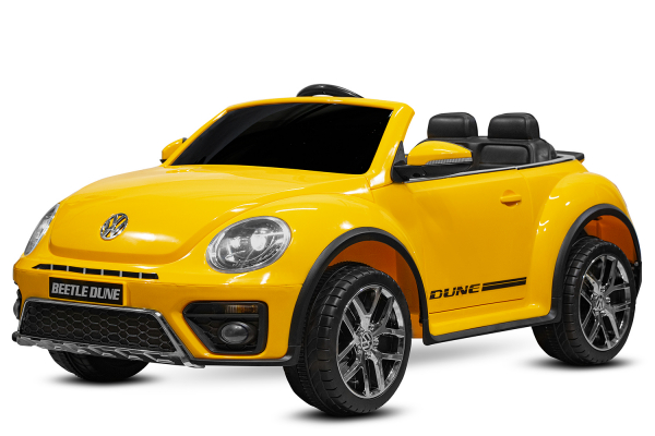 Masinuta electrica VW Beetle Dune Cabrio STANDARD #Galben 0