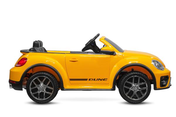 Masinuta electrica VW Beetle Dune Cabrio STANDARD #Galben 5