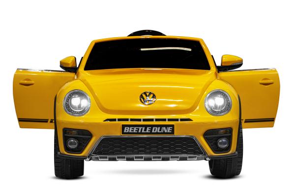 Masinuta electrica VW Beetle Dune Cabrio STANDARD #Galben 2