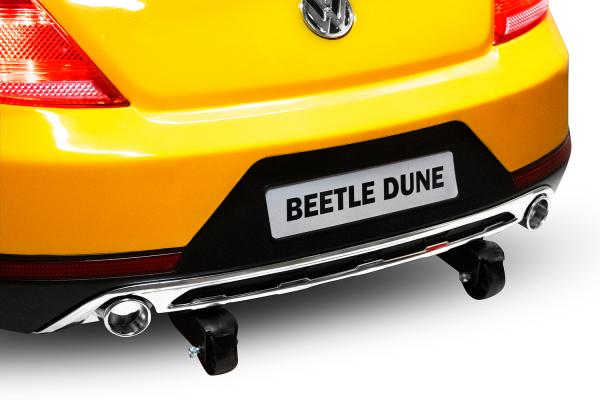 Masinuta electrica VW Beetle Dune Cabrio STANDARD #Galben 12