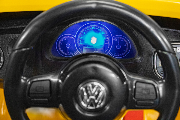 Masinuta electrica VW Beetle Dune Cabrio STANDARD #Galben 8