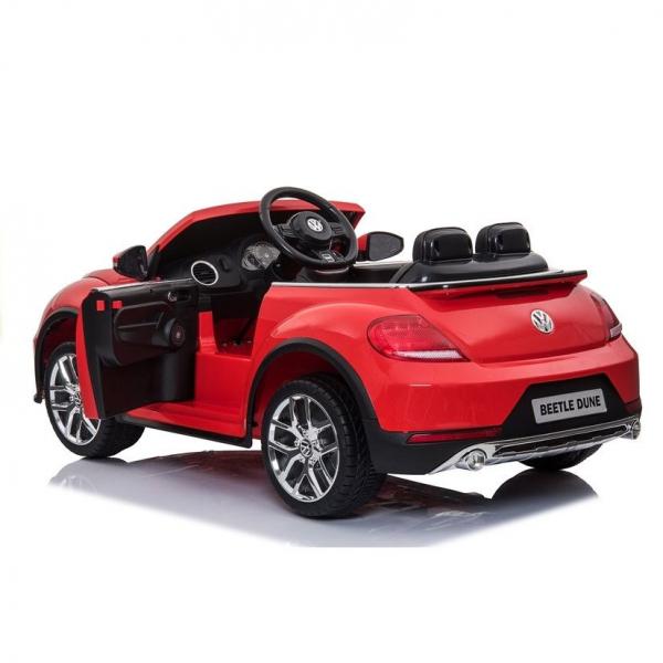 Masinuta electrica VW Beetle Dune Cabrio STANDARD #Rosu 5
