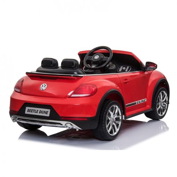 Masinuta electrica VW Beetle Dune Cabrio STANDARD #Rosu 2