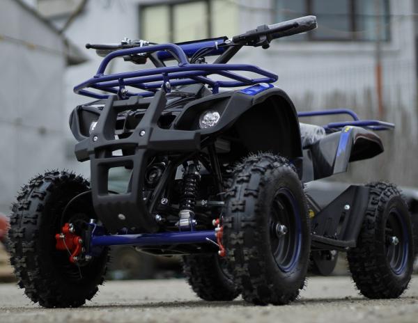 Mini ATV electric NITRO Torino Deluxe Quad 800W 36V #Albastru [3]