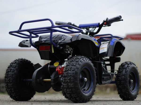 Mini ATV electric NITRO Torino Deluxe Quad 800W 36V #Albastru 5