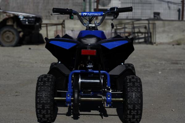 ATV Electric Eco Avenger 1000W 48V cu 3 Trepte de Viteza #Albastru [5]