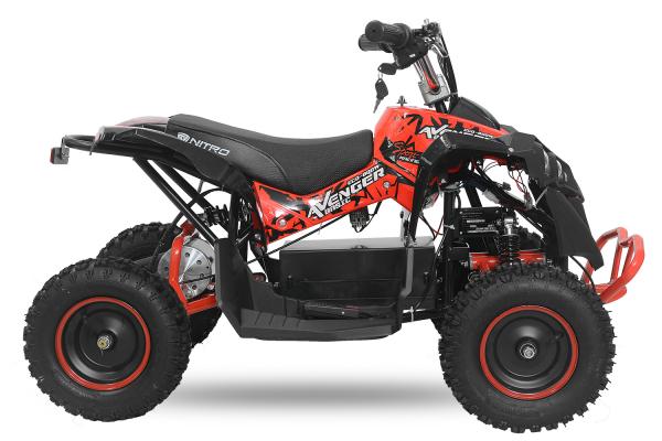 ATV Electric Eco Avenger 800W 36V cu 3 Trepte de Viteza #Negru 2