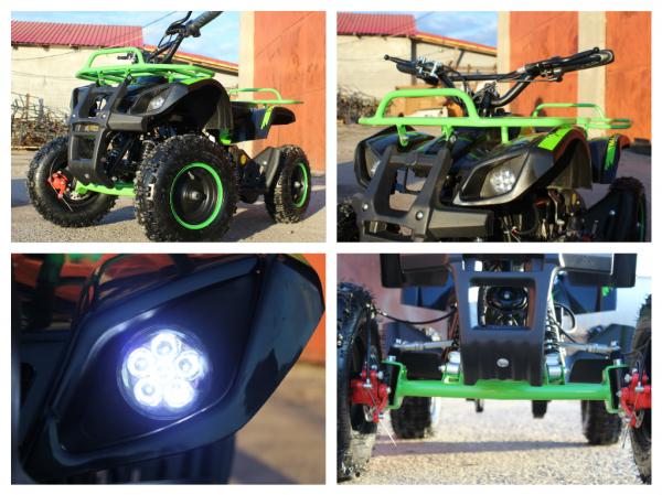 Mini ATV Electric Eco Torino Deluxe 1000W 48V cu 3 Trepte de Viteza #Verde 6