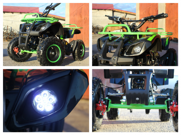 Mini ATV electric NITRO Torino Deluxe Quad 800W 36V #Verde 6