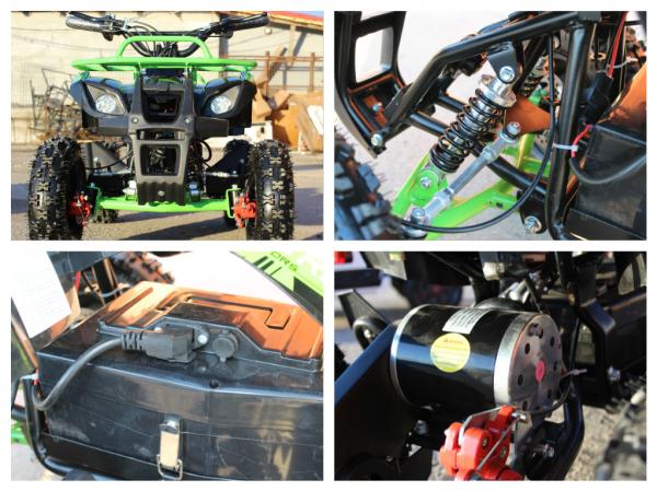 Mini ATV Electric Eco Torino Deluxe 1000W 48V cu 3 Trepte de Viteza #Verde 7