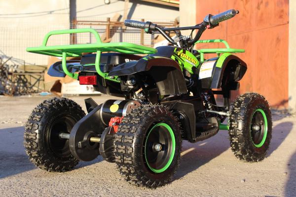 Mini ATV Electric Eco Torino Deluxe 1000W 48V cu 3 Trepte de Viteza #Verde 5