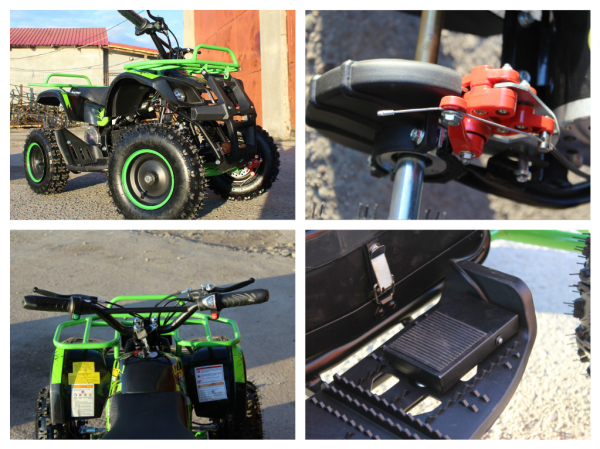 Mini ATV electric NITRO Torino Quad 1000W 36V LITHIU-ION# Verde 8