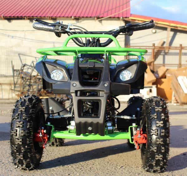 Mini ATV Electric Eco Torino Deluxe 1000W 48V cu 3 Trepte de Viteza #Verde 1