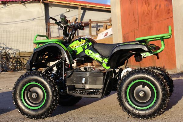 Mini ATV Electric Eco Torino Deluxe 1000W 48V cu 3 Trepte de Viteza #Verde 3