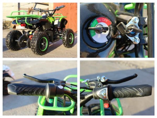 Mini ATV electric NITRO Torino Deluxe Quad 800W 36V #Verde 9