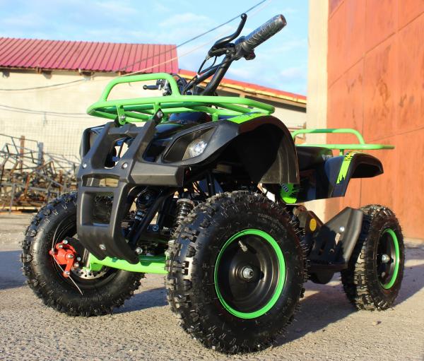 Mini ATV Electric Eco Torino Deluxe 1000W 48V cu 3 Trepte de Viteza #Verde 2