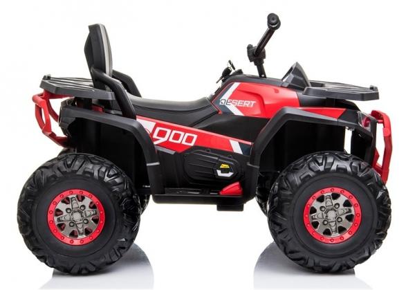 ATV electric pentru copii BJ607 12V 90W cu Scaun Tapitat #Rosu 7