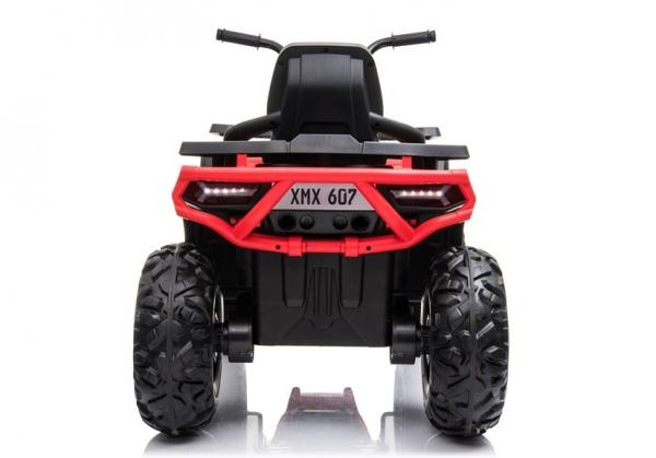 ATV electric pentru copii BJ607 12V 90W cu Scaun Tapitat #Rosu 6