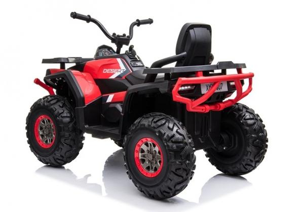 ATV electric pentru copii BJ607 12V 90W cu Scaun Tapitat #Rosu 5