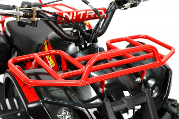 Mini ATV Electric Eco Torino Deluxe 1000W 48V cu 3 Trepte de Viteza #Rosu 2