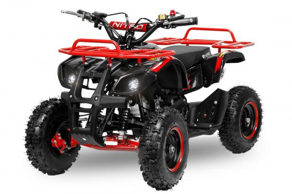 Mini ATV Electric Eco Torino Deluxe 1000W 48V cu 3 Trepte de Viteza #Rosu 0