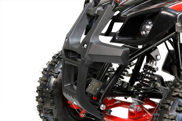 Mini ATV Electric Eco Torino Deluxe 1000W 48V cu 3 Trepte de Viteza #Rosu [4]