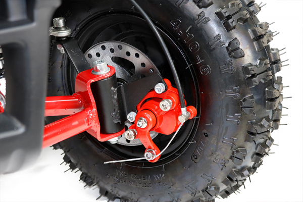 Mini ATV Electric Eco Torino Deluxe 1000W 48V cu 3 Trepte de Viteza #Rosu [3]