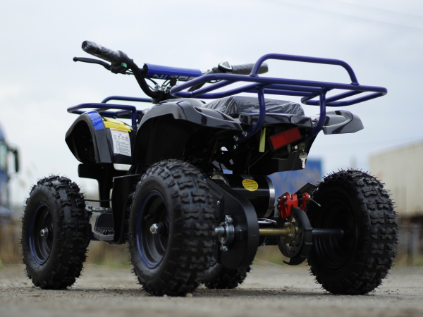 Mini ATV Electric Eco Torino Deluxe 1000W 48V cu 3 Trepte de Viteza #Albastru 3