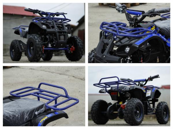 Mini ATV Electric Eco Torino Deluxe 1000W 48V cu 3 Trepte de Viteza #Albastru 5