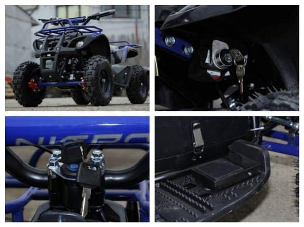 Mini ATV Electric Eco Torino Deluxe 1000W 48V cu 3 Trepte de Viteza #Albastru 6