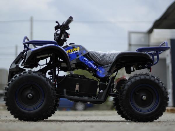 Mini ATV Electric Eco Torino Deluxe 1000W 48V cu 3 Trepte de Viteza #Albastru 2