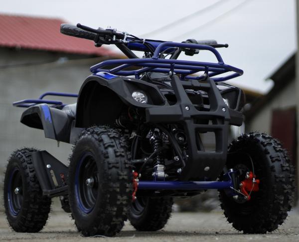 Mini ATV Electric Eco Torino Deluxe 1000W 48V cu 3 Trepte de Viteza #Albastru 1