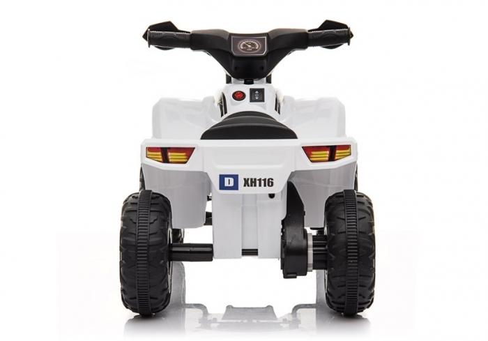 Mini ATV electric pentru copii BJ116 35W STANDARD #Alb [5]
