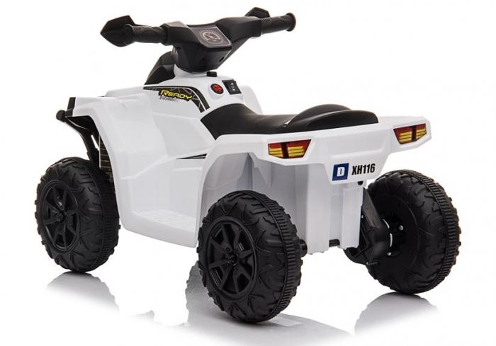 Mini ATV electric pentru copii BJ116 35W STANDARD #Alb [4]