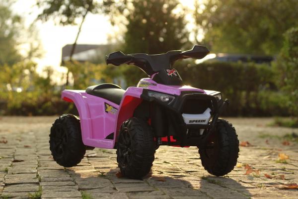 Mini ATV electric pentru copii BJ116 35W STANDARD #Roz 2