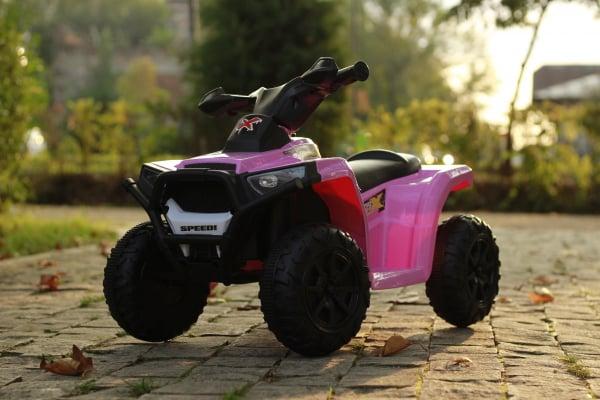 Mini ATV electric pentru copii BJ116 35W STANDARD #Roz 1