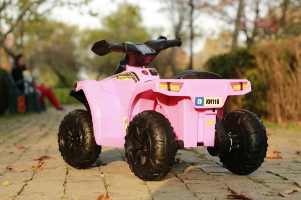Mini ATV electric pentru copii BJ116 35W STANDARD #Roz 3