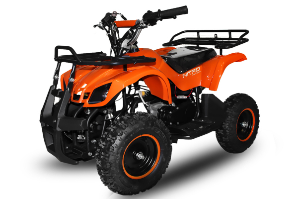 Mini ATV electric pentru copii NITRO Torino Quad 800W 36V # Portocaliu 0