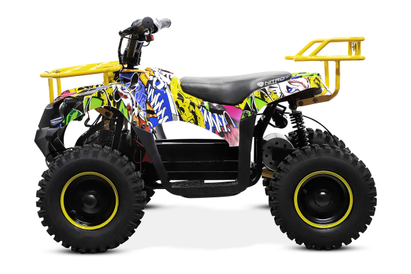 ATV electric NITRO ECO Torino Cross 800W 36V #Galben 2