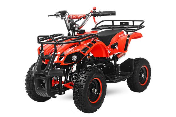 Mini ATV electric pentru copii NITRO Torino Quad 800W 36V #Rosu 0