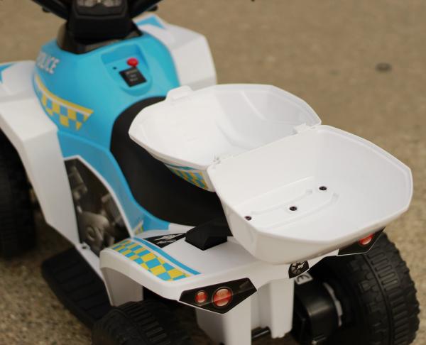 Mini ATV electric Police Quad YSA021A STANDARD #Alb [8]