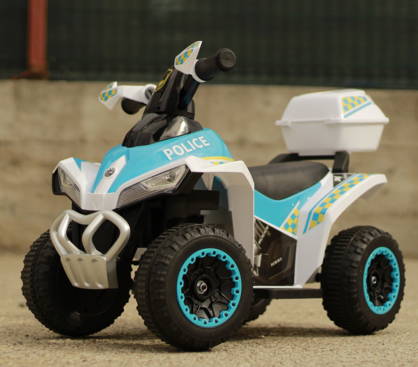Mini ATV electric Police Quad YSA021A STANDARD #Alb [2]