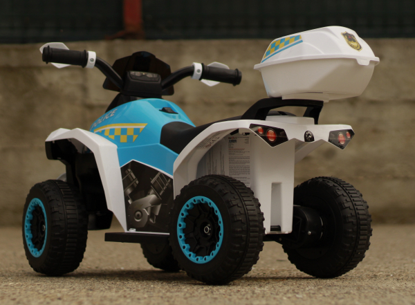Mini ATV electric Police Quad YSA021A STANDARD #Alb [7]