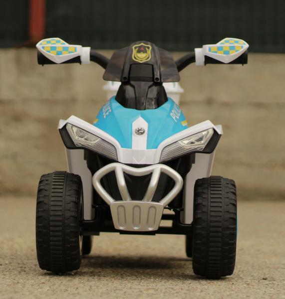Mini ATV electric Police Quad YSA021A STANDARD #Alb [1]