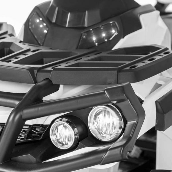 Mini ATV electric Quad Offroad cu Telecomanda STANDARD #Alb 5