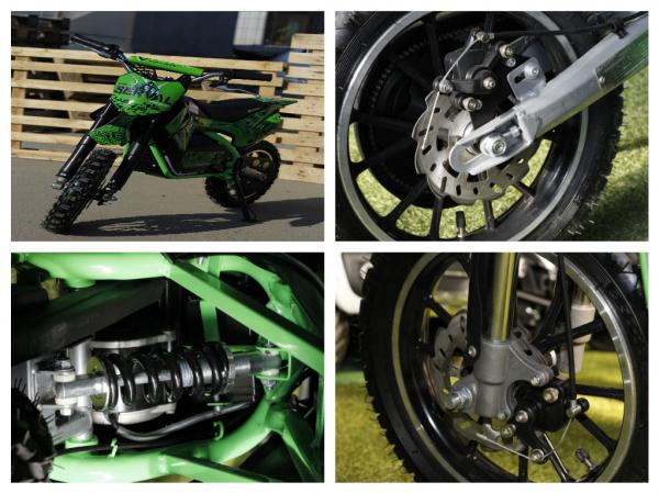 Mini motocicleta electrica NITRO Eco Serval 500W 10/10 #Verde 4