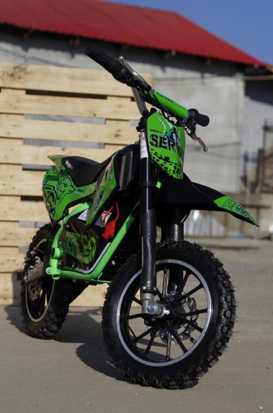 Mini motocicleta electrica NITRO Eco Serval 500W 10/10 #Verde 6