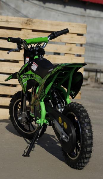 Mini motocicleta electrica NITRO Eco Serval 500W 10/10 #Verde 2